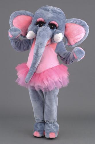location mascotte n°117 éléphant rose