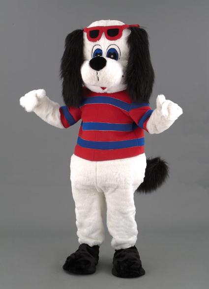 location mascotte chien blanc n°125